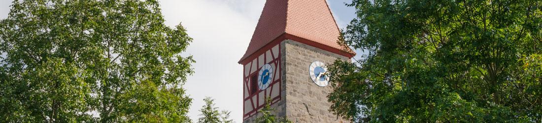 Kirchturm in Neusitz